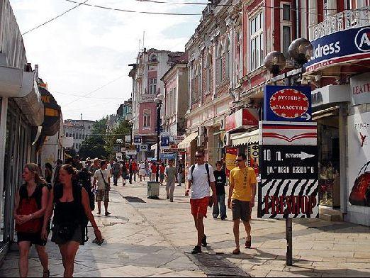 Уютные улочки центра Варны